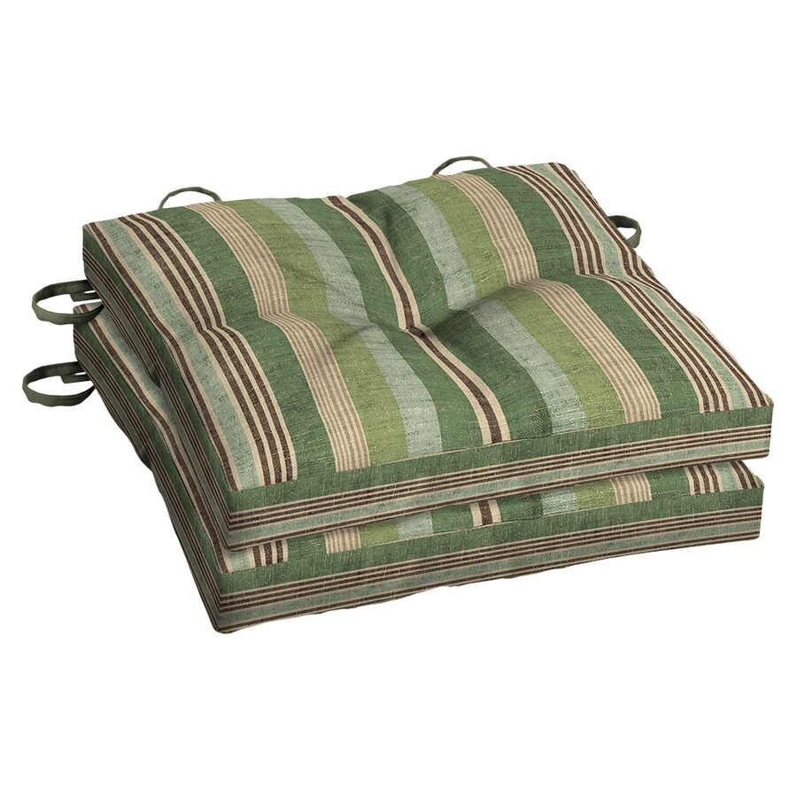 allen + roth Green Stripe Seat Pad For Bistro Chair