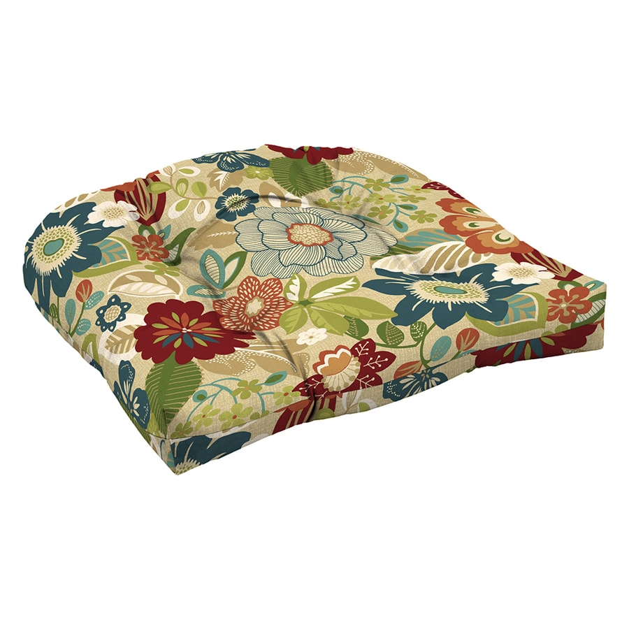 Garden Treasures Bloomery Floral Seat Pad For High-Back Chair