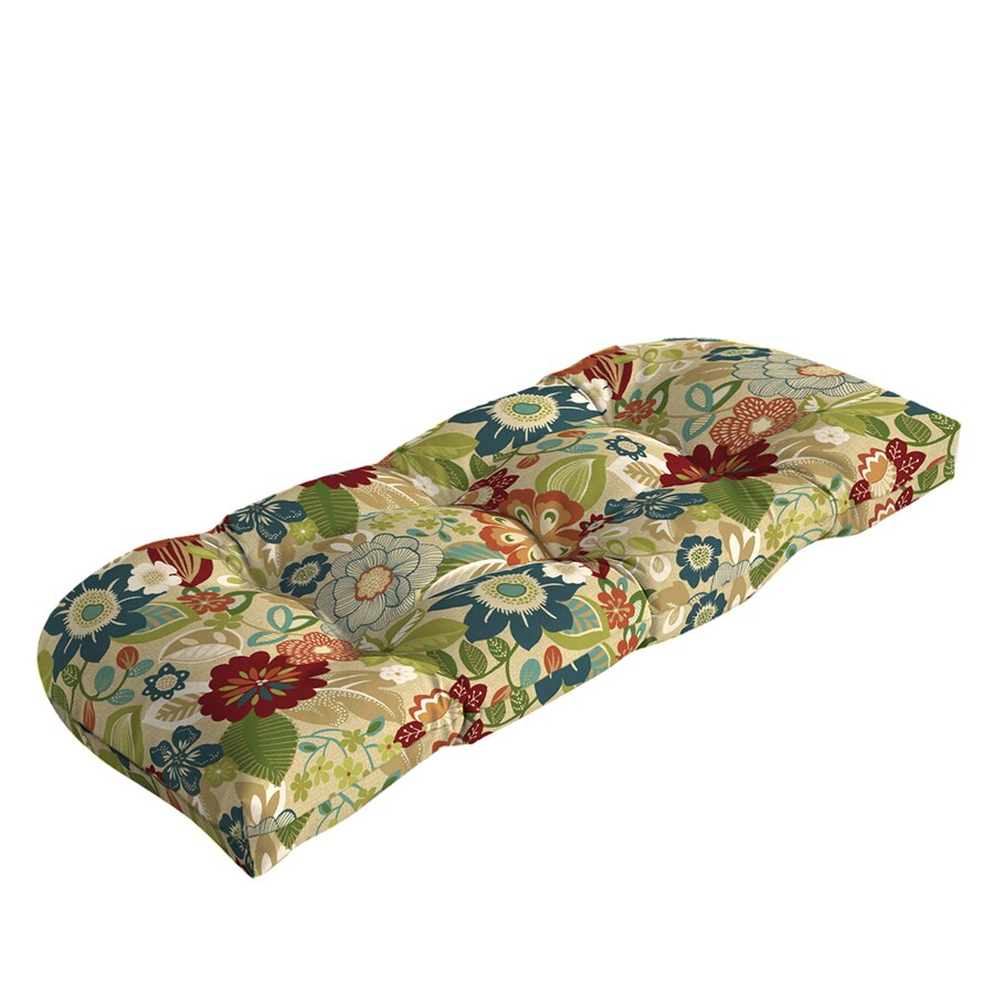 Shop garden treasures bloomery floral cushion for loveseat - Garden treasures replacement cushions ...