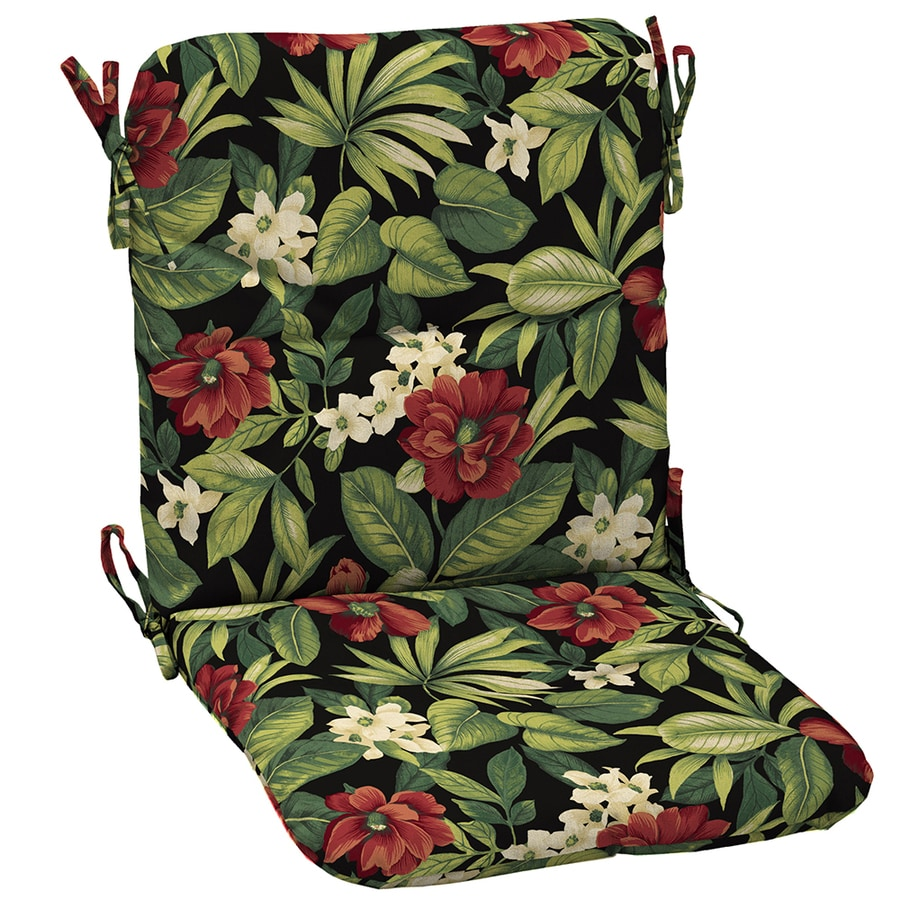 Garden Treasures Sanibel Black Tropical Cushion For Universal