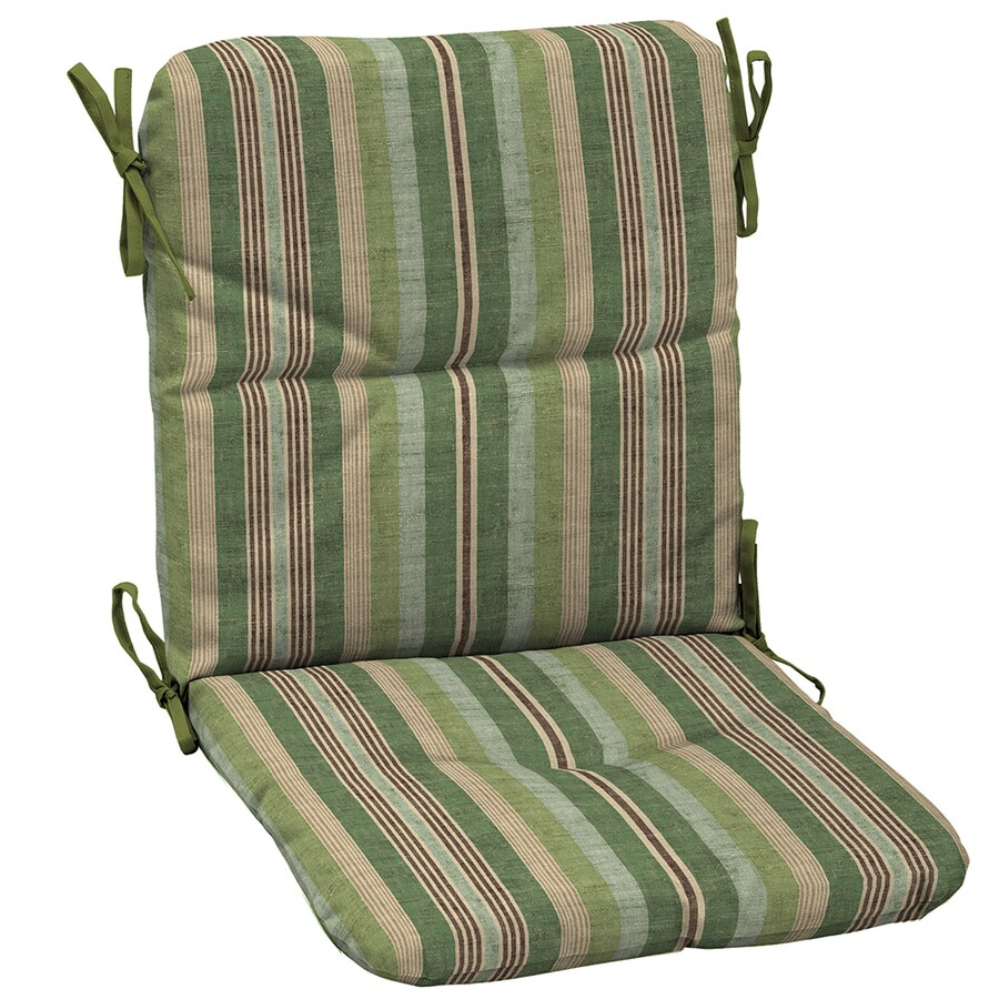 Shop garden treasures green stripe cushion for universal for Lowes garden treasures