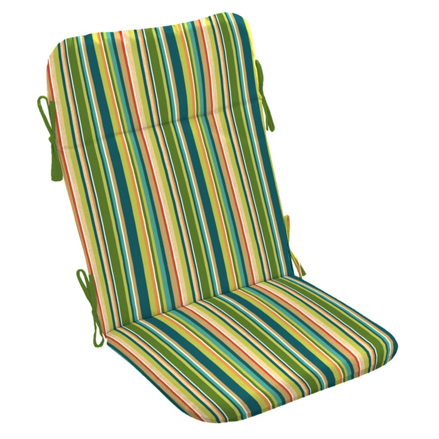Garden Treasures Bloomery Stripe Cushion For Adirondack Chair