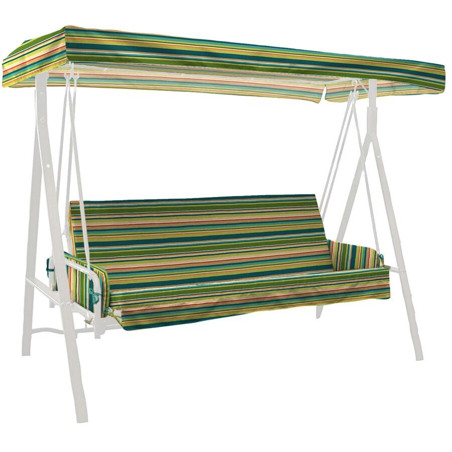 Garden Treasures Bloomery Stripe Cushion For Glider