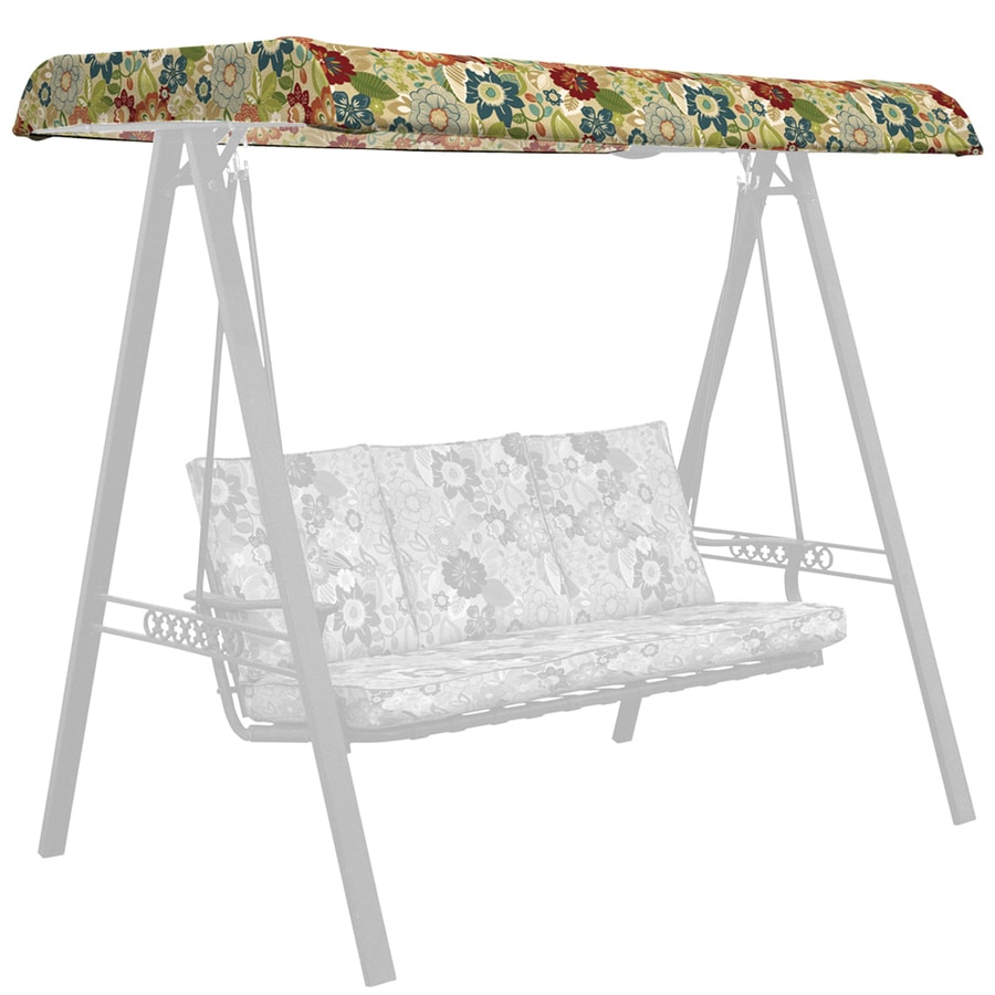 shop garden treasures bloomery porch swing canopy at
