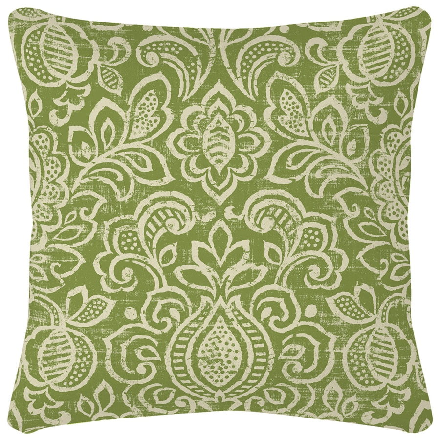 Arden Outdoor Green and Beige Paisley Square Throw Outdoor Decorative Pillow