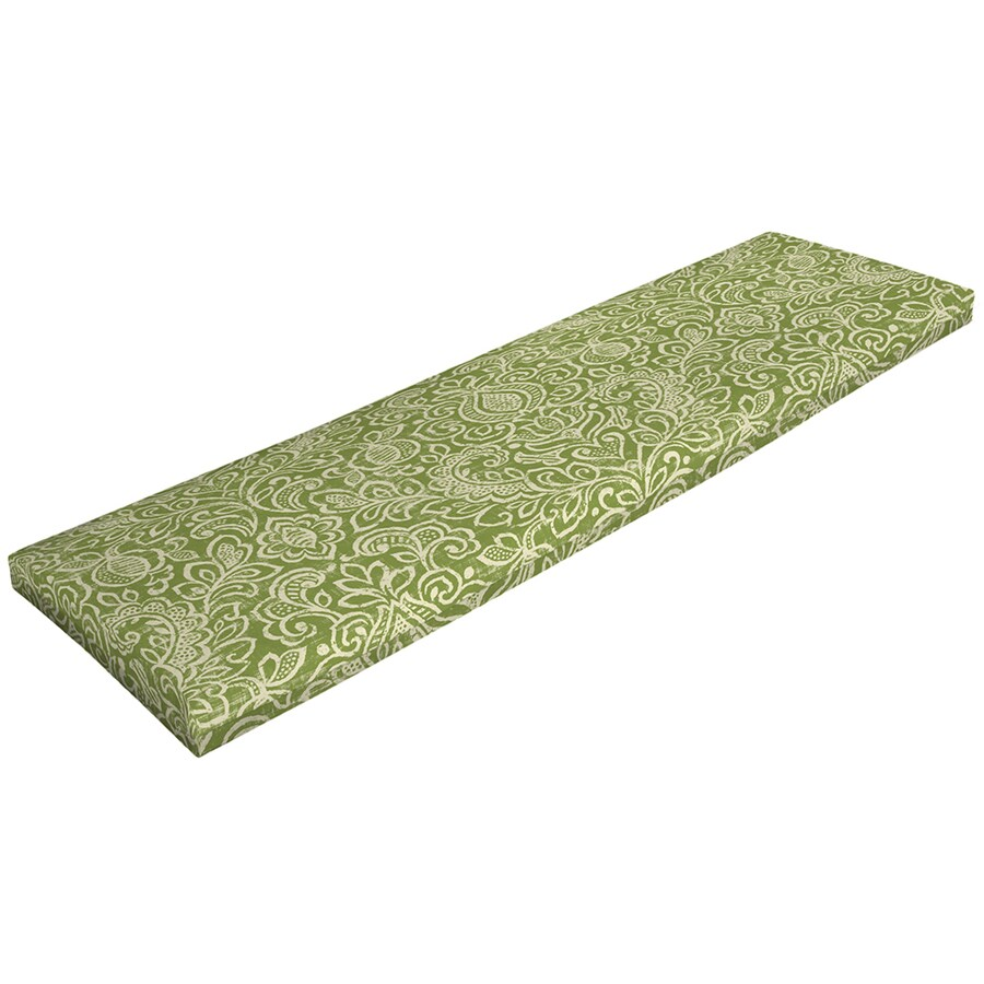 Garden Treasures Green Stencil Green Stencil Geometric Cushion For Patio Bench