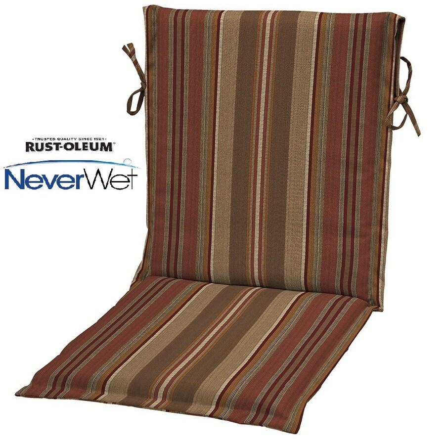allen + roth Chili Stripe Cushion For Universal
