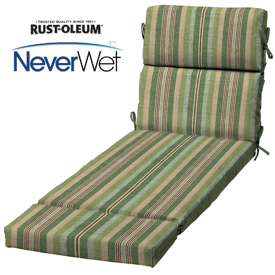 allen + roth Multi Eucalyptus Multi Eucalyptus Stripe Cushion For Chaise Lounge