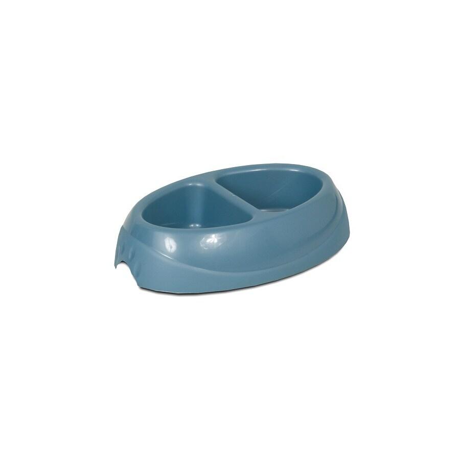 Aspen Pet Multicolor Plastic Double Basin Pet Bowl