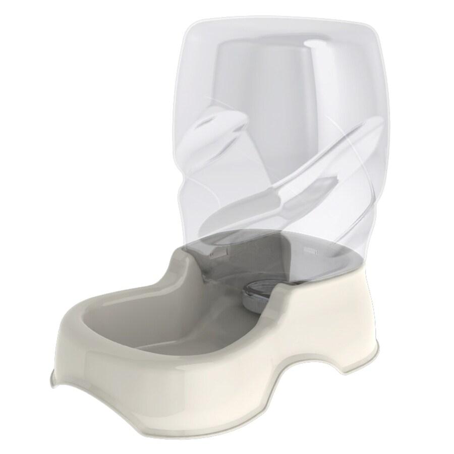Aspen Pet Bleached Linen Plastic Dog Bowl