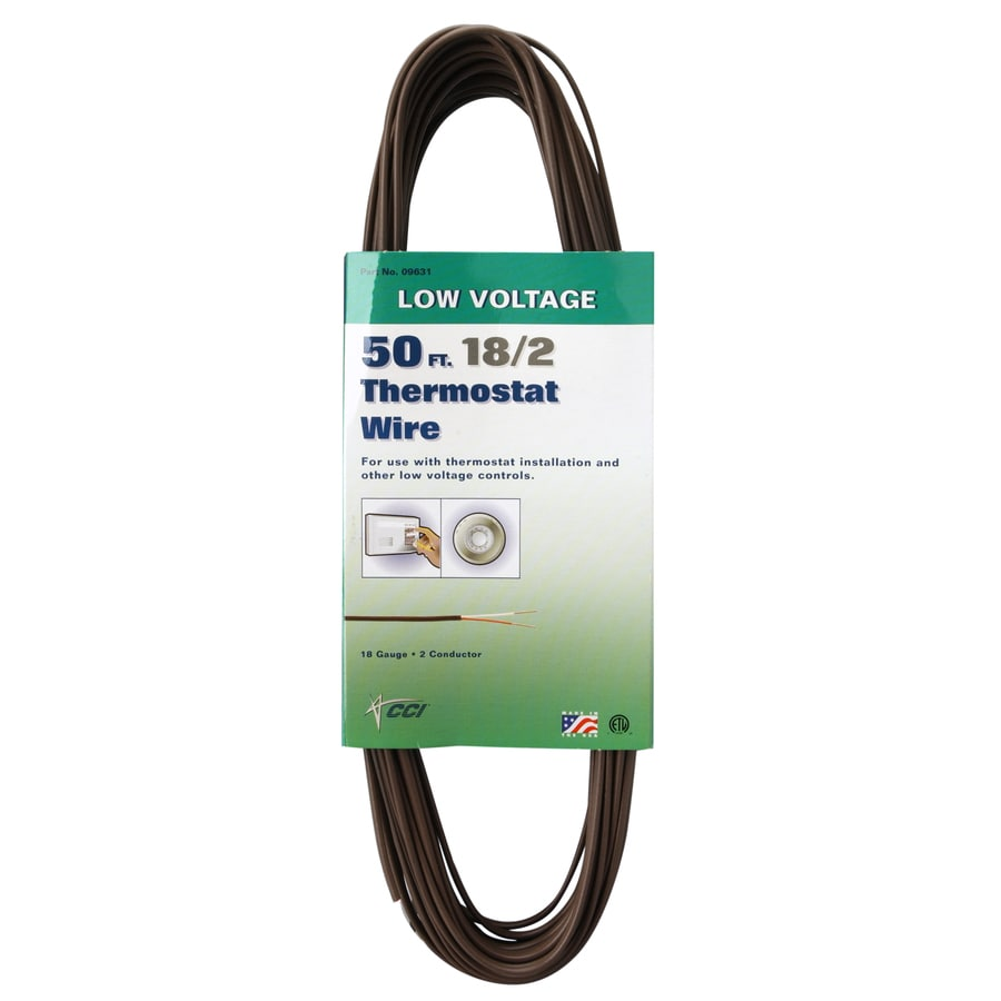 Coleman Cable 50-ft 18-AWG Solid Copper Wire (By-The-Roll)