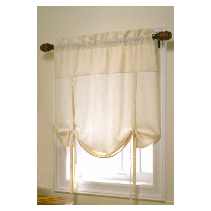 Style Selections 45-in L Ivory Oxford Shade Valance