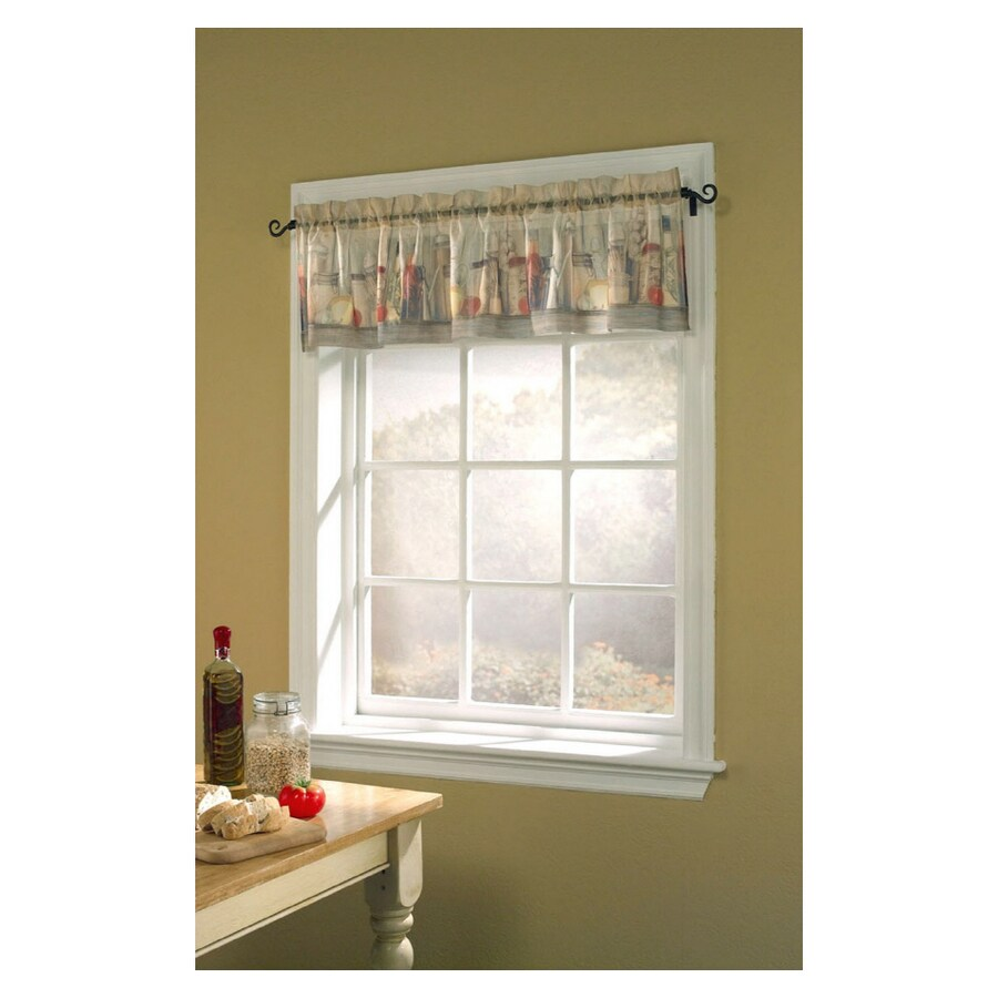 Style Selections Tuscany 17-in Multicolor Polyester Rod Pocket Valance