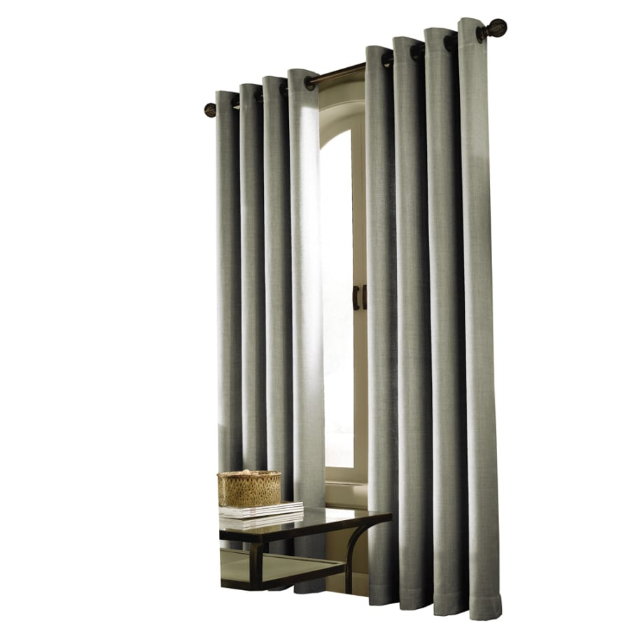 allen + roth Milton 84-in Mineral Polyester Grommet Light Filtering Single Curtain Panel