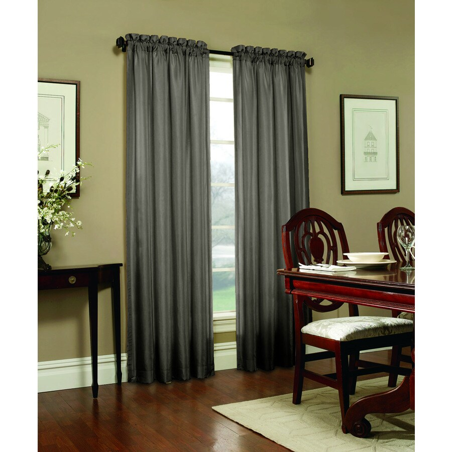 allen + roth Columbia 84-in Mineral Polyester Rod Pocket Blackout Single Curtain Panel