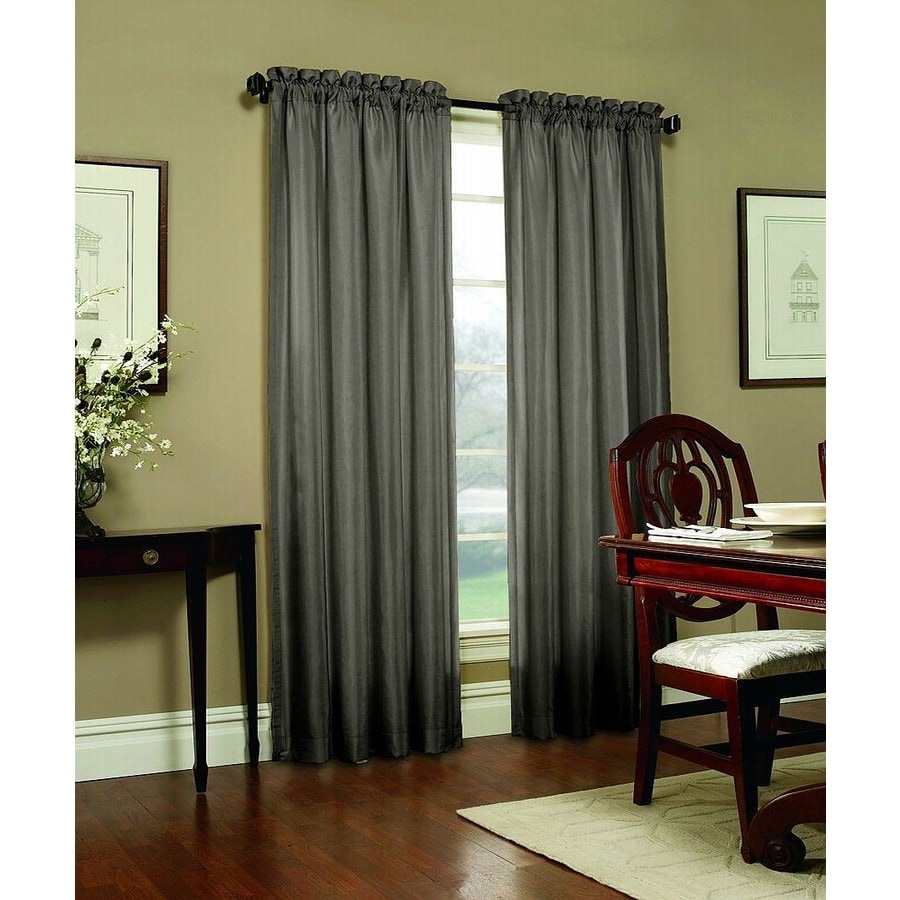 Shop Allen Roth Columbia 95 In Mineral Polyester Rod Pocket Blackout Single Curtain Panel At