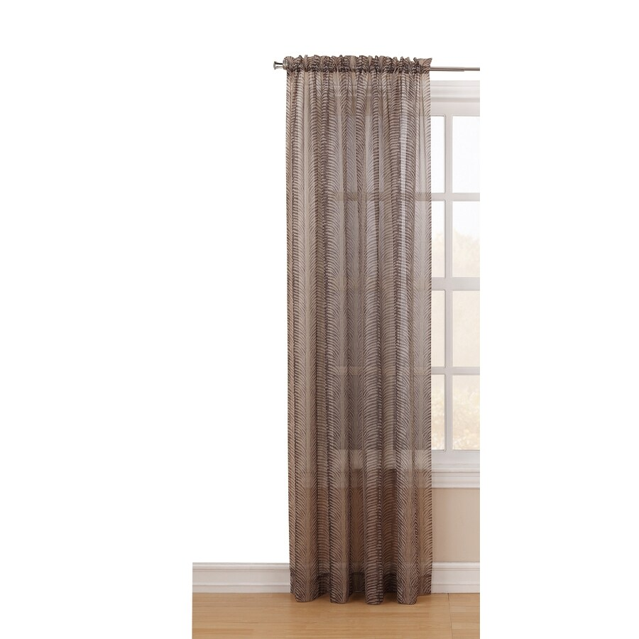 Style Selections Chesney 84-in Antique Polyester Rod Pocket Light Filtering Sheer Single Curtain Panel