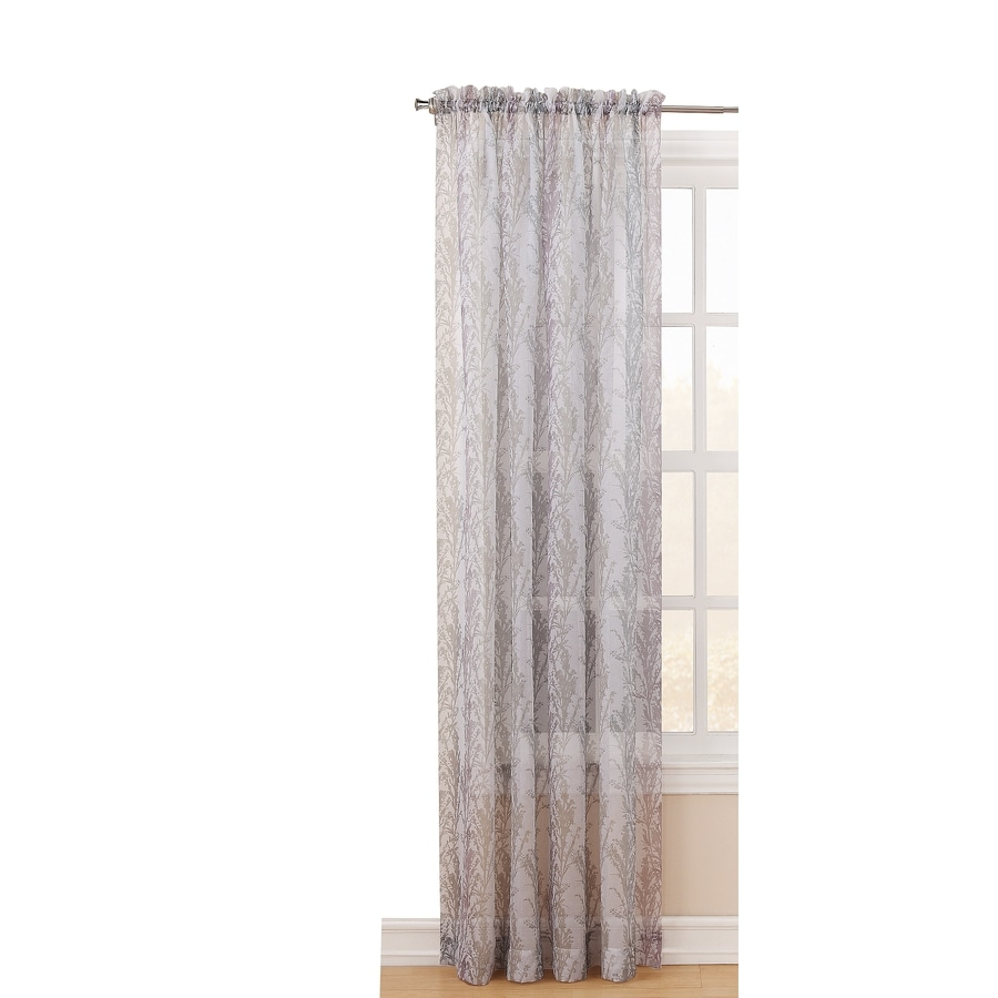 Style Selections Carlene 84-in Blush Polyester Rod Pocket Light Filtering Sheer Single Curtain Panel