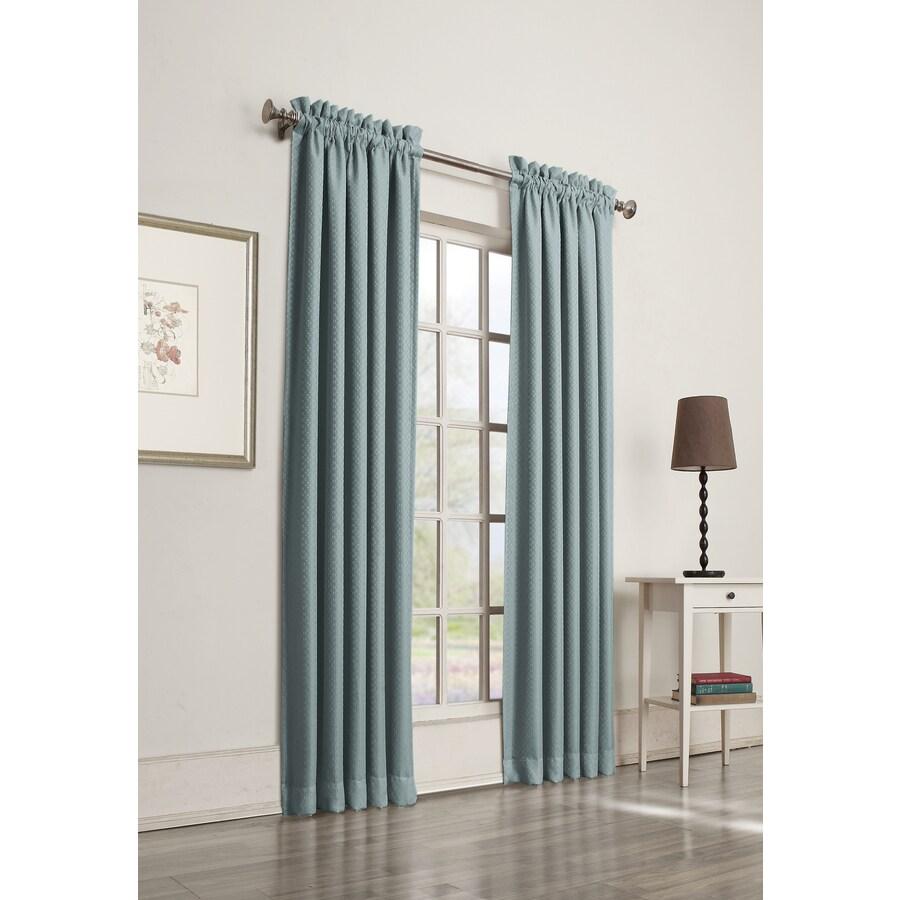 allen + roth Guestling 84-in Mineral Polyester Rod Pocket Room Darkening Single Curtain Panel