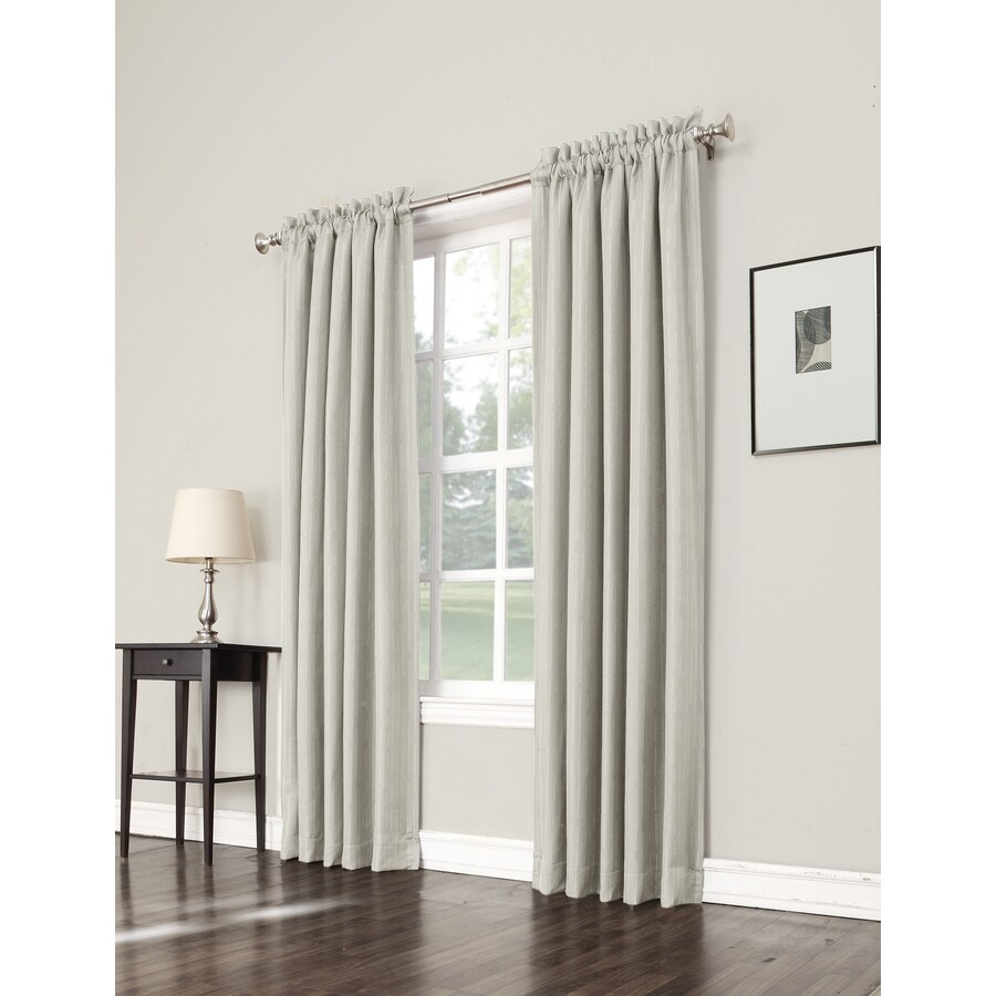 allen + roth Earnley 63-in Ivory Polyester Rod Pocket Room Darkening Single Curtain Panel