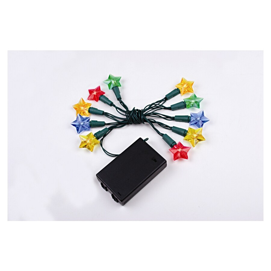 Shop Holiday Living 10-Count Multicolor LED Battery-Operated Christmas String Lights at Lowes.com
