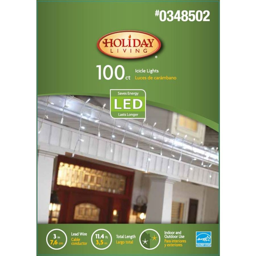 Holiday Living 100-Count 10.8-ft Clear Dome LED Christmas String Lights