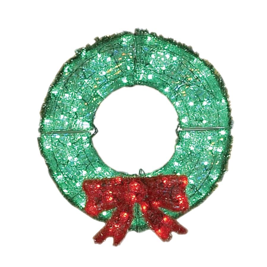 Holiday Living 3-ft Plastic Green LED Christmas Wreath