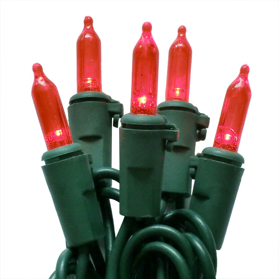 Holiday Living 50-Count LED Mini Red Christmas String Lights ENERGY STAR