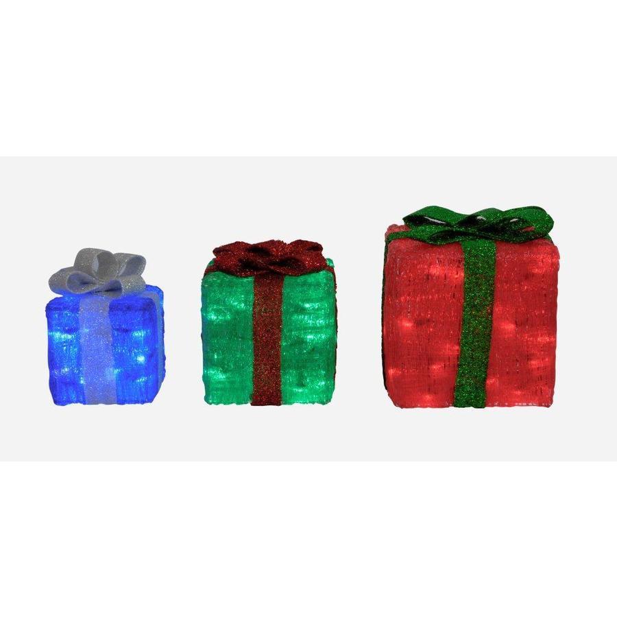 Holiday Living Set Of 3 LED Christmas Gift Boxes