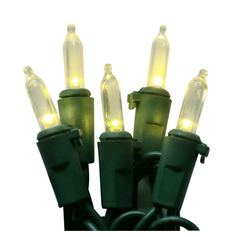 Holiday Living 50-Count LED Mini White Christmas String Lights ENERGY STAR