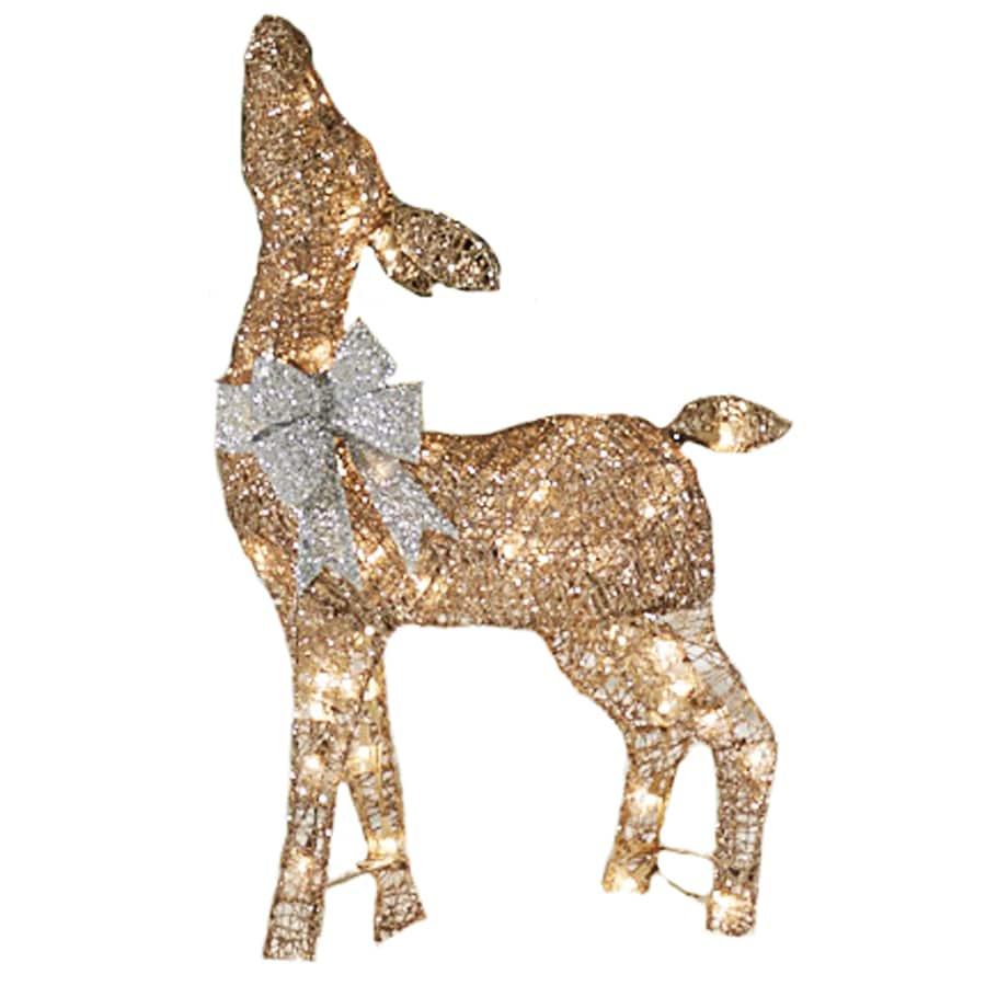 Lighted reindeer freestanding sculpture outdoor christmas decoration