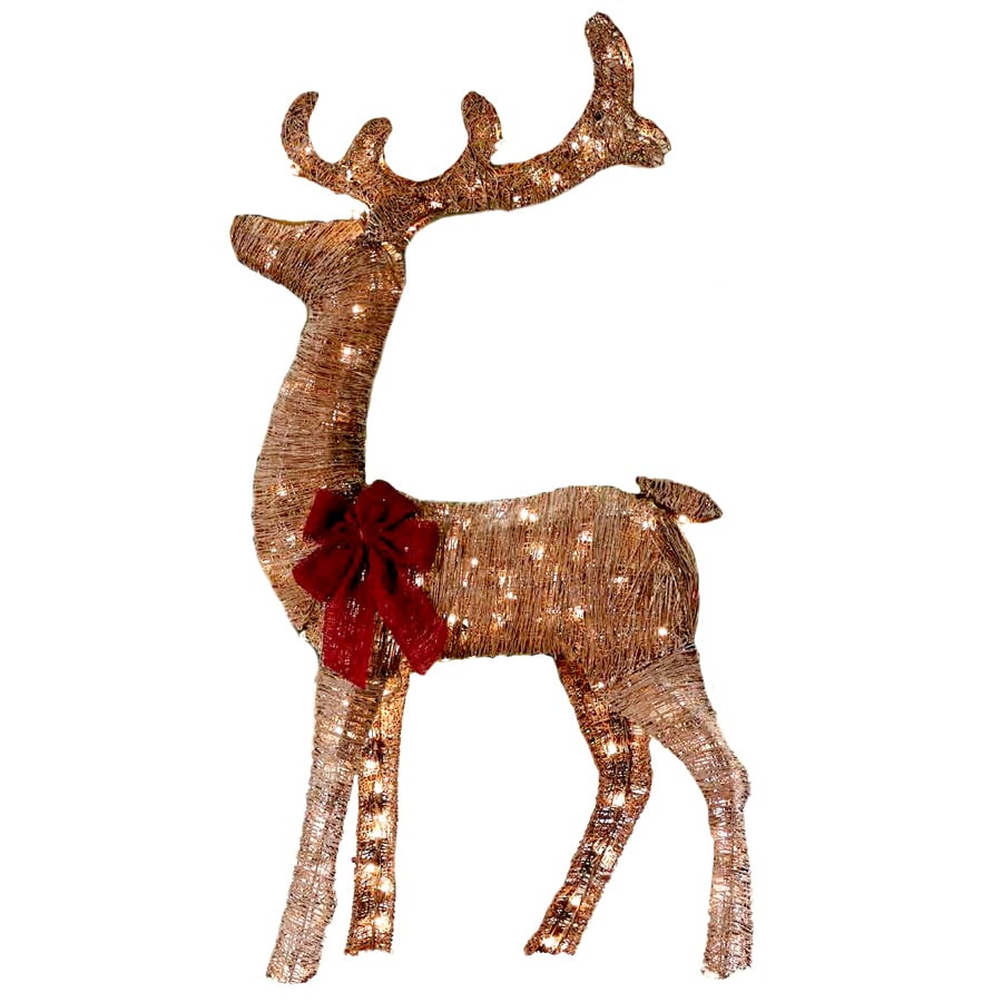 Shop Holiday Living 43 ft Lighted Reindeer Freestanding