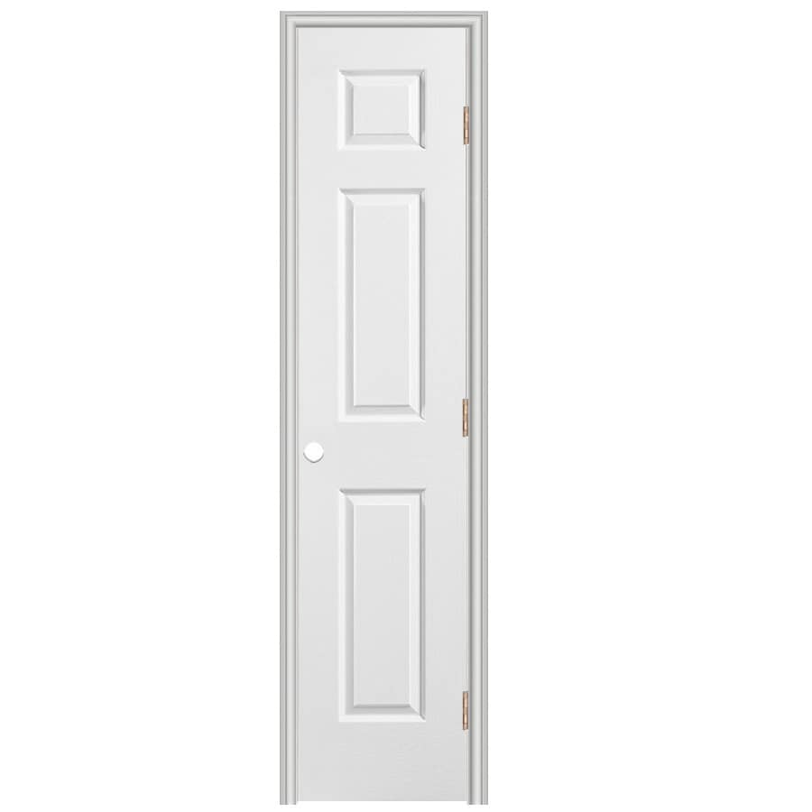 Shop reliabilt prehung hollow core 6 panel interior door for 18 x 80 closet door