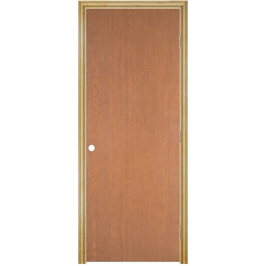 Shop reliabilt prehung hollow core flush lauan interior door common 18 in x 80 in actual 19 - Hollow core interior doors lowes ...
