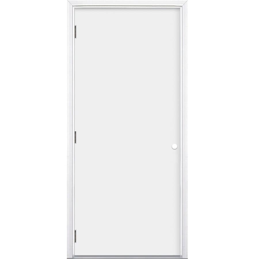 Shop Prosteel Flush Insulating Core Right Hand Outswing Steel Primed Prehung Entry Door Common