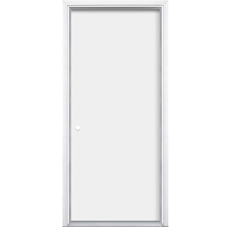 ProSteel Flush Insulating Core Right-Hand Inswing Primed Steel Prehung Entry Door (Common: 36-in x 80-in; Actual: 37.5-in x 81.5-in)