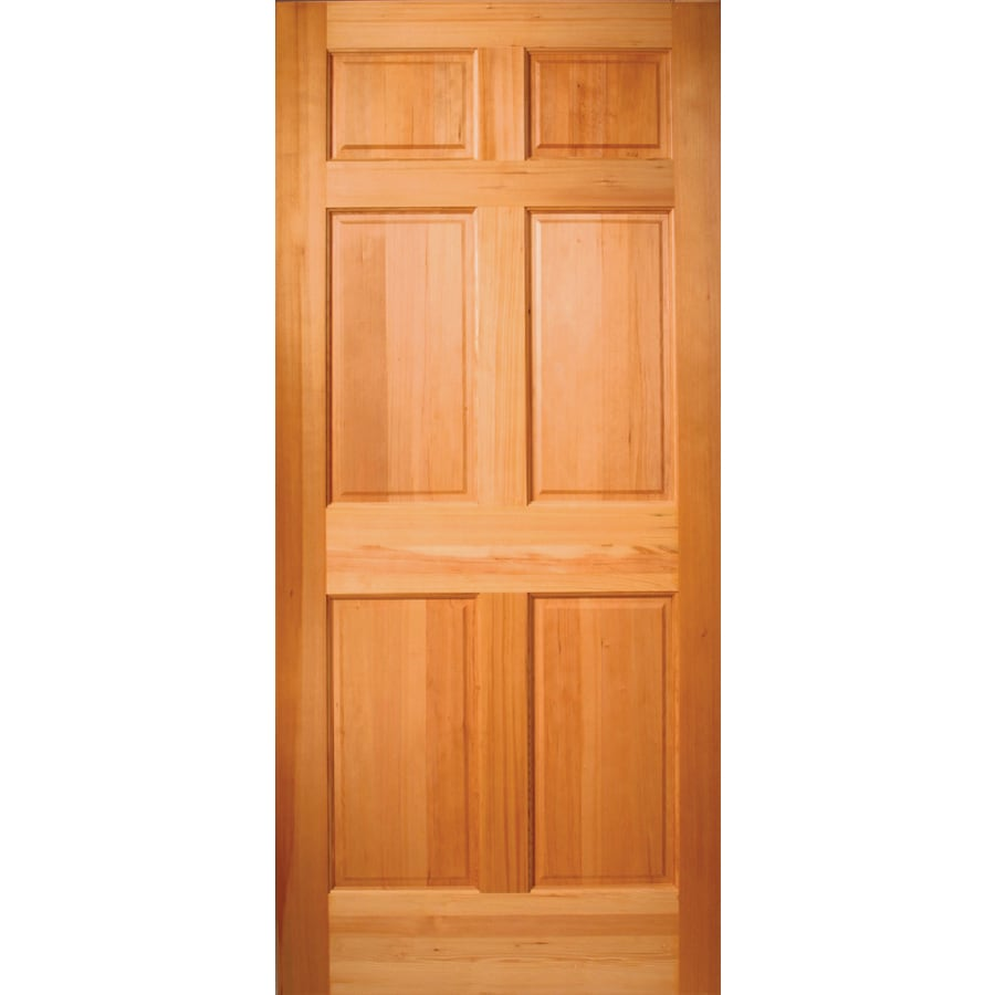 ReliaBilt 6-Panel Solid Wood Core Hem Fir Unfinished Slab Entry Door (Common: 36-in x 80-in; Actual: 80-in x 36-in)