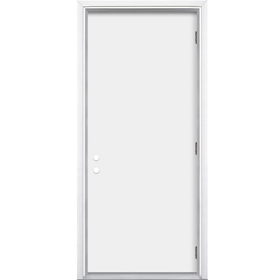 Shop Reliabilt Flush Insulating Core Left Hand Outswing Primed Steel Prehung Entry Door Common