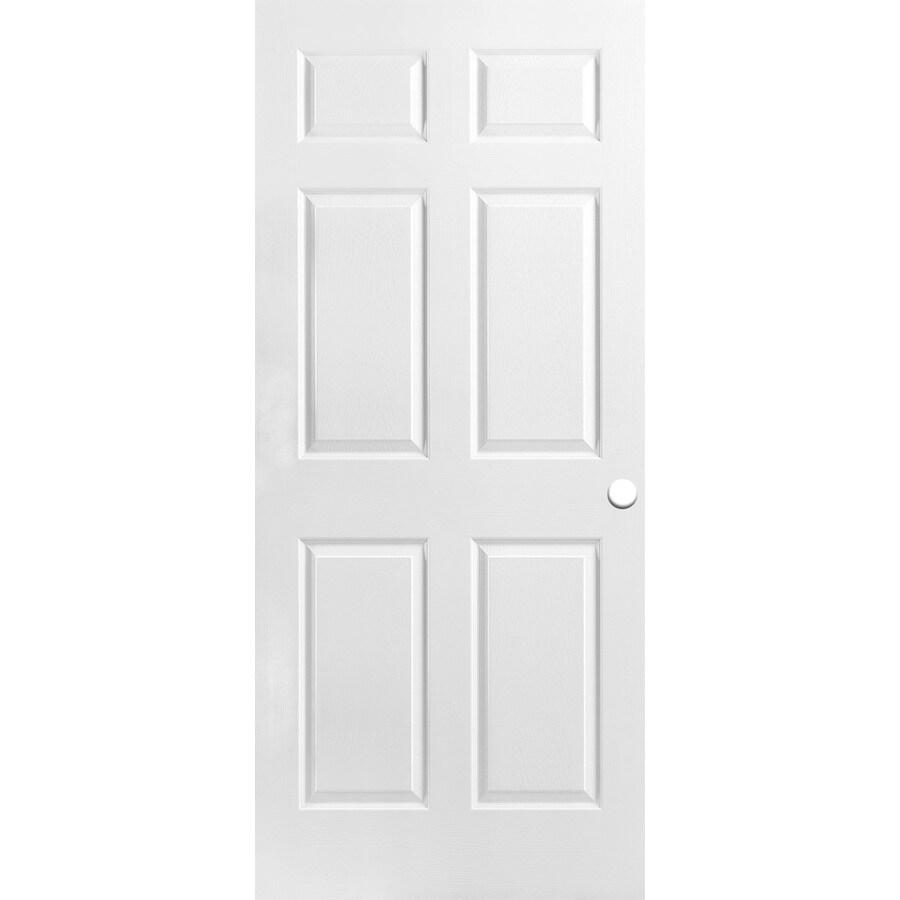 Shop Reliabilt Hollow Core 6 Panel Slab Interior Door Common 32 In X 78 In Actual 32 In X 78