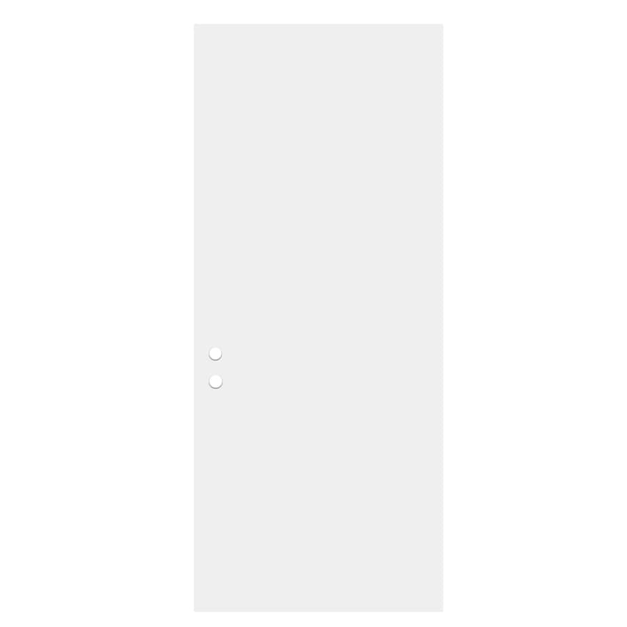 ReliaBilt Flush Insulating Core Left-Hand Inswing Primed Fiberglass Prehung Entry Door (Common: 32-in x 80-in; Actual: 33.5-in x 81.5-in)