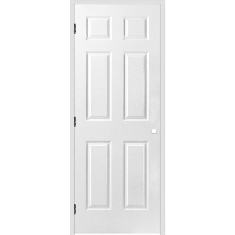 ReliaBilt Prehung Hollow Core 6-Panel Interior Door (Common: 30-in x 80-in; Actual: 31.5-in x 81.5-in)