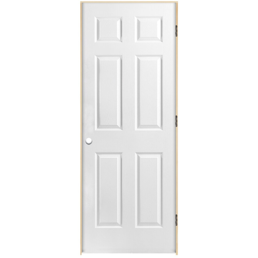 ReliaBilt Prehung Hollow Core 6-Panel Interior Door (Common: 32-in x 80-in; Actual: 33.5-in x 81.5-in)