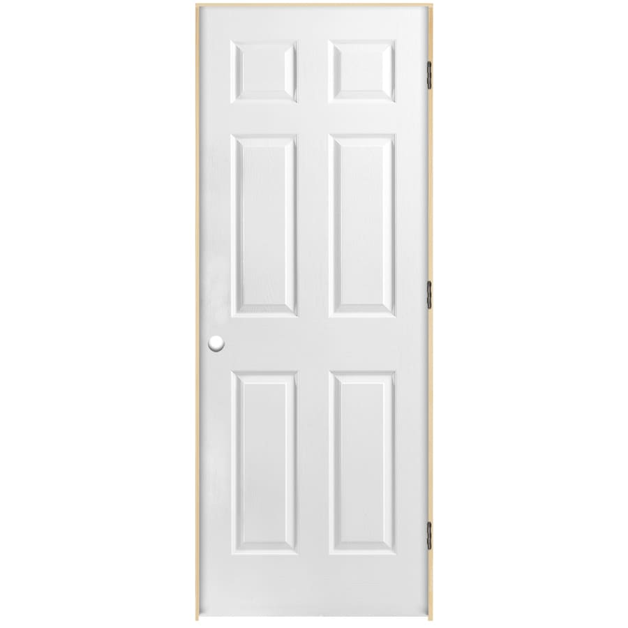 Shop Reliabilt Prehung Hollow Core 6 Panel Interior Door Common 36 In X 80 In Actual 37 5 In