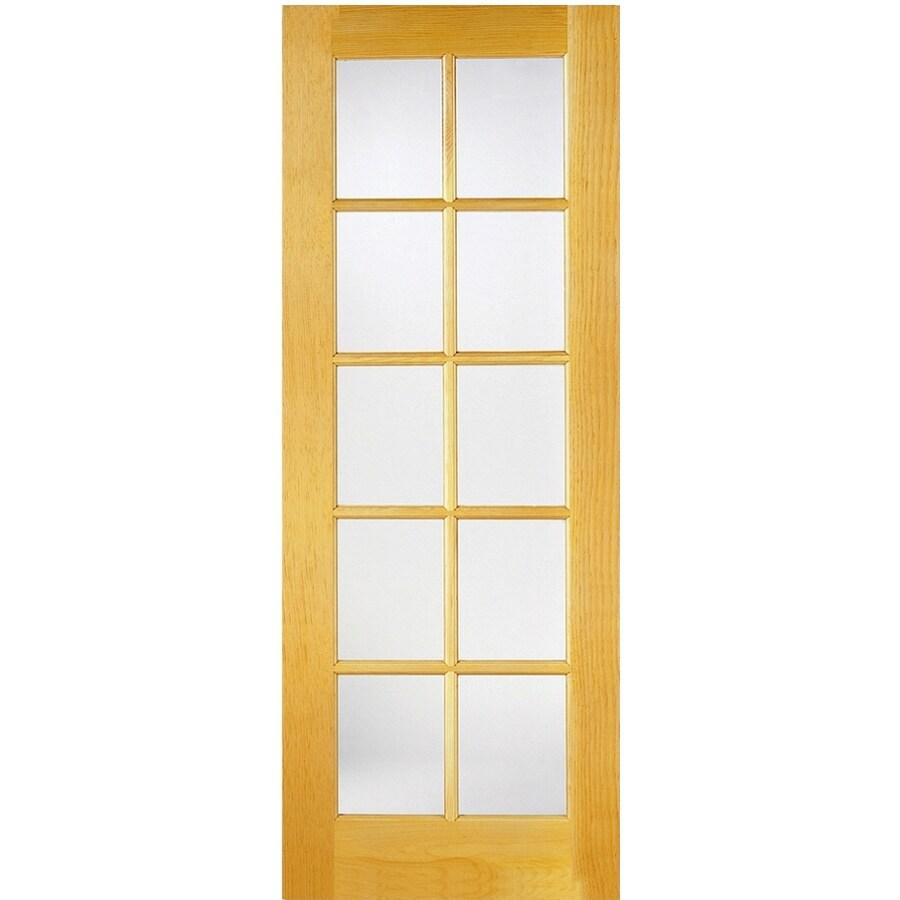 ReliaBilt Solid Core 10-Lite Pine Slab Interior Door (Common: 24-in x 80-in; Actual: 24-in x 80-in)
