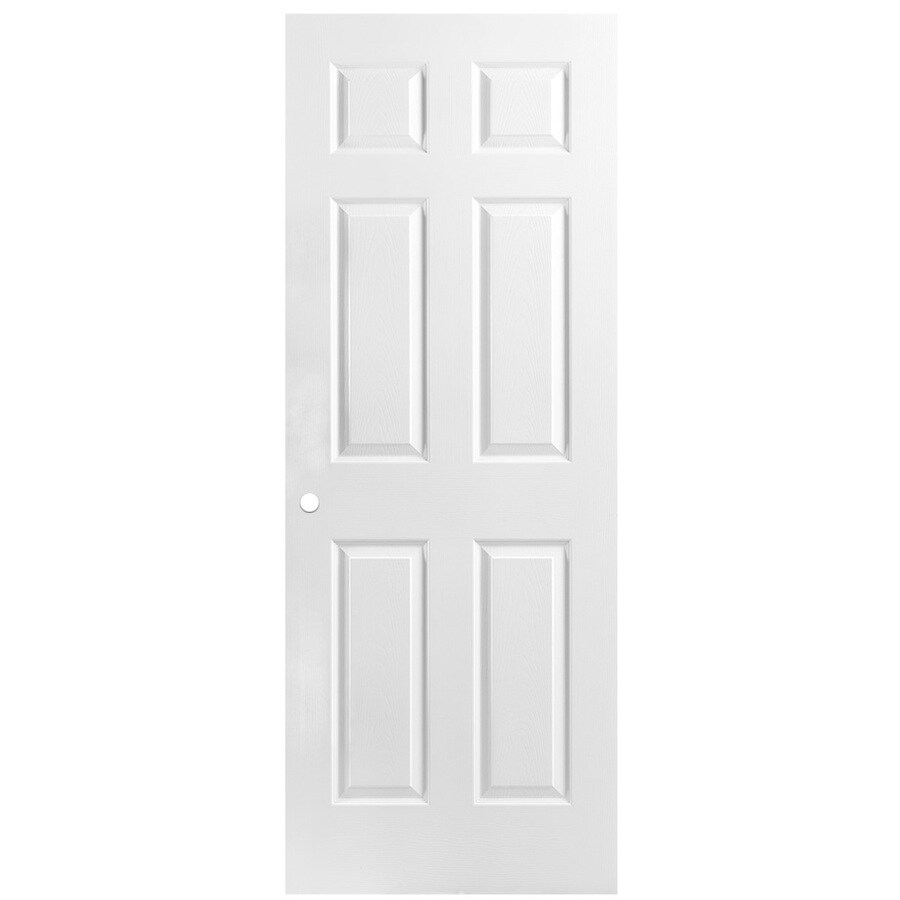 ReliaBilt Hollow Core 6-Panel Slab Interior Door (Common: 32-in x 80-in; Actual: 32-in x 80-in)