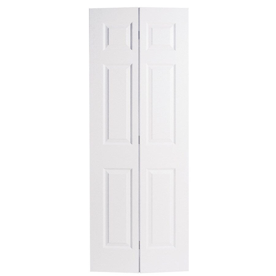 ReliaBilt Hollow Core 6-Panel Bi-Fold Closet Interior Door (Common: 28-in x 80-in; Actual: 27.5-in x 79-in)