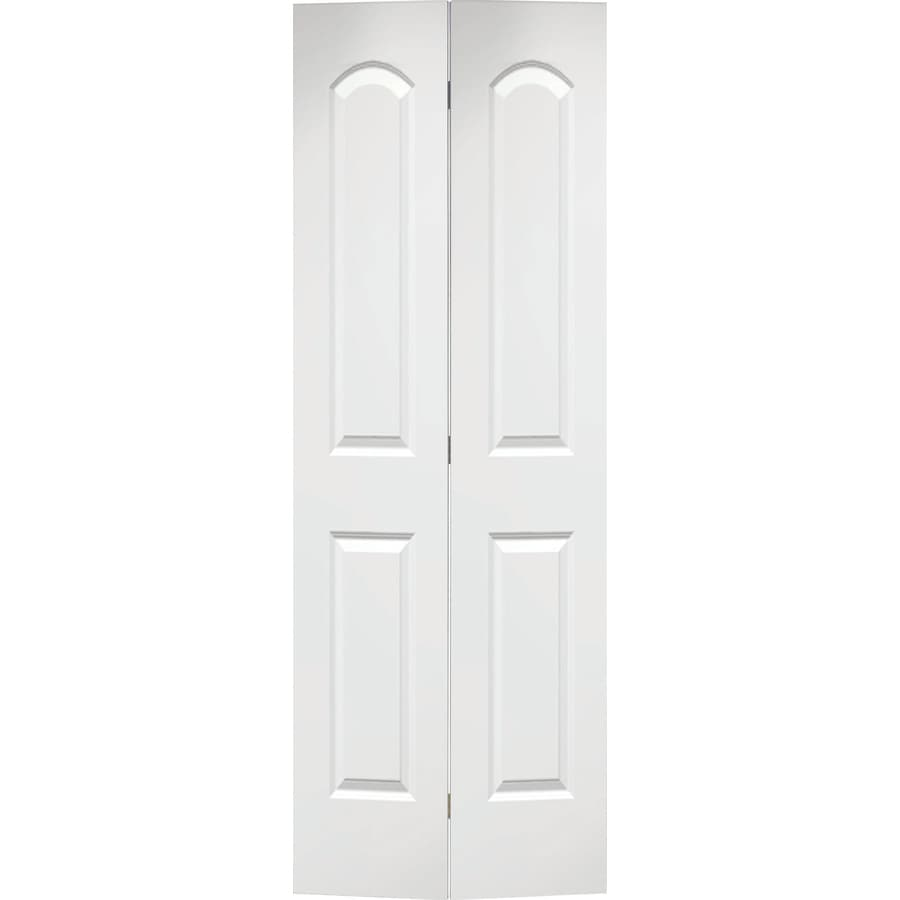 ReliaBilt Hollow Core 2-Panel Round Top Bi-Fold Closet Interior Door (Common: 24-in x 80-in; Actual: 23.5-in x 79-in)