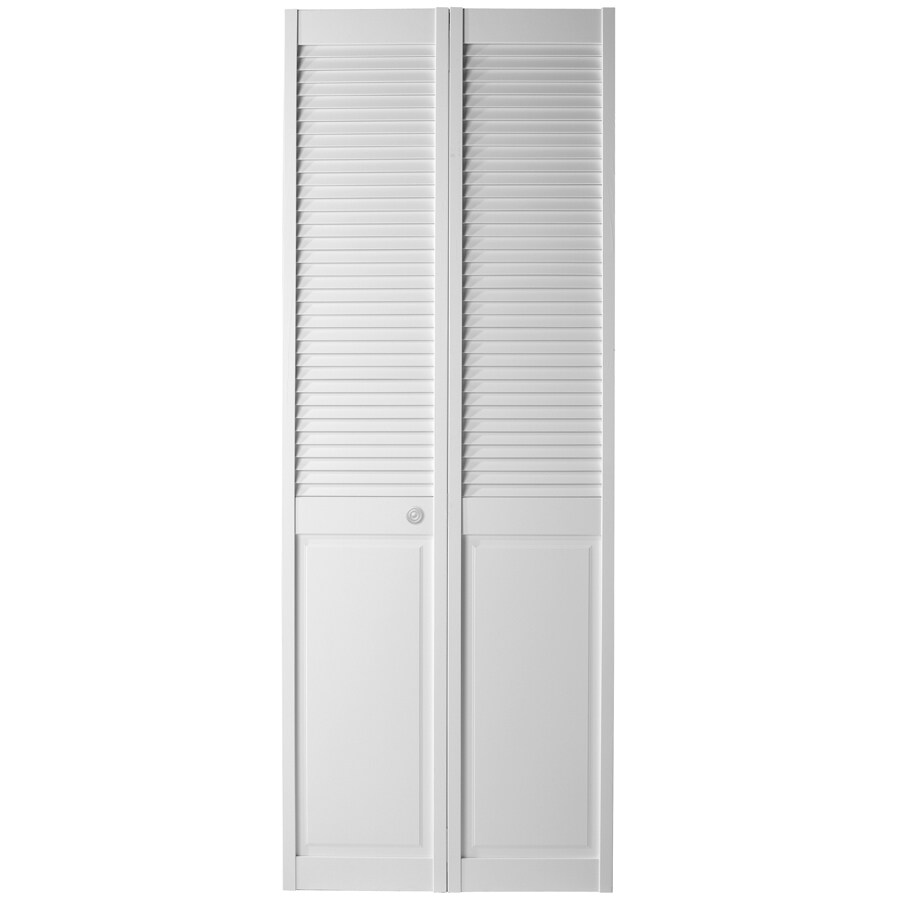 ReliaBilt White Solid Core Louver/Panel Pine Bi-Fold Closet Interior Door (Common: 24-in x 80-in; Actual: 23.5-in x 79-in)