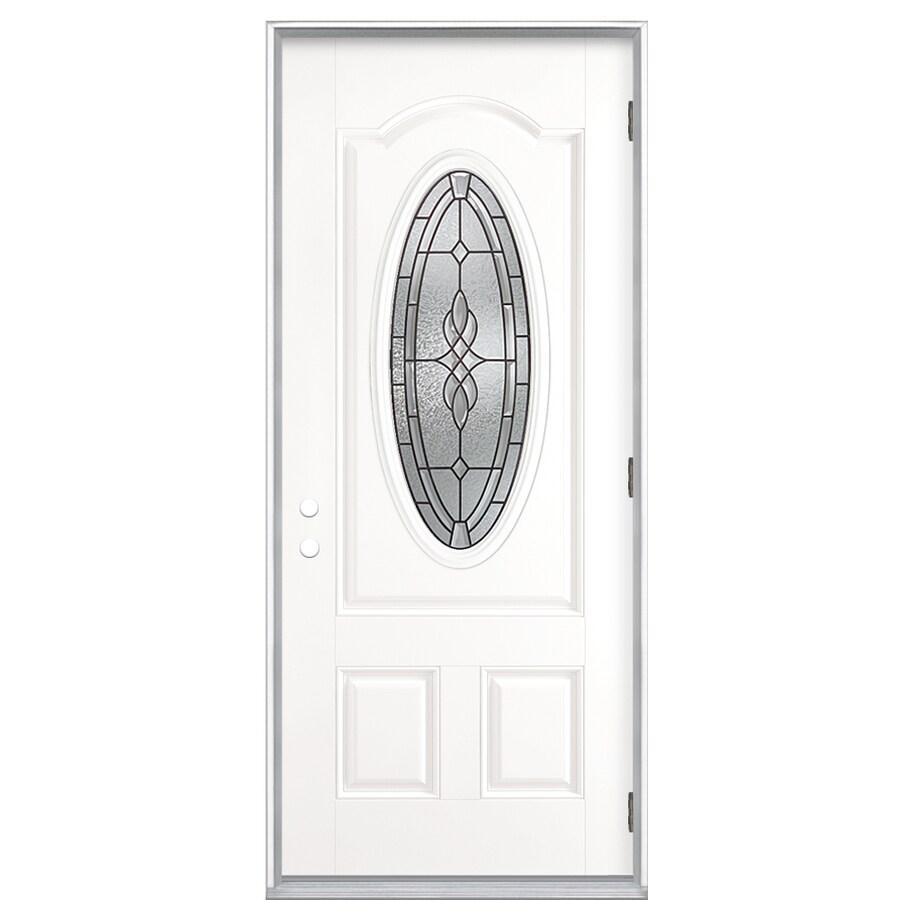 ReliaBilt 36-in Decorative Outswing Fiberglass Entry Door