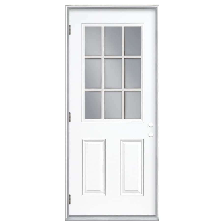 ReliaBilt 32-in Clear Outswing Fiberglass Entry Door